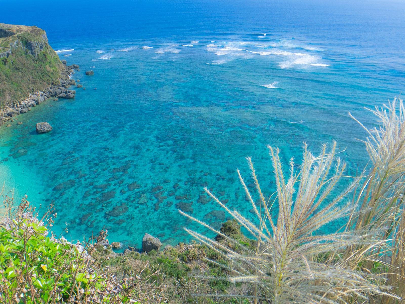 果報バンタから見る海