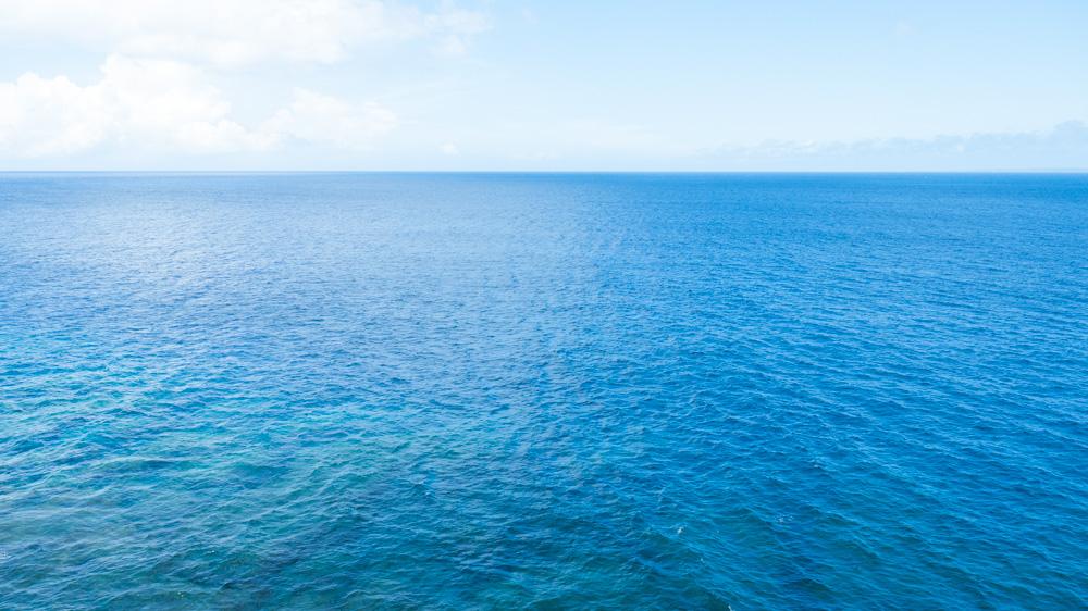 辺戸岬からの絶景。海が青いぜ!