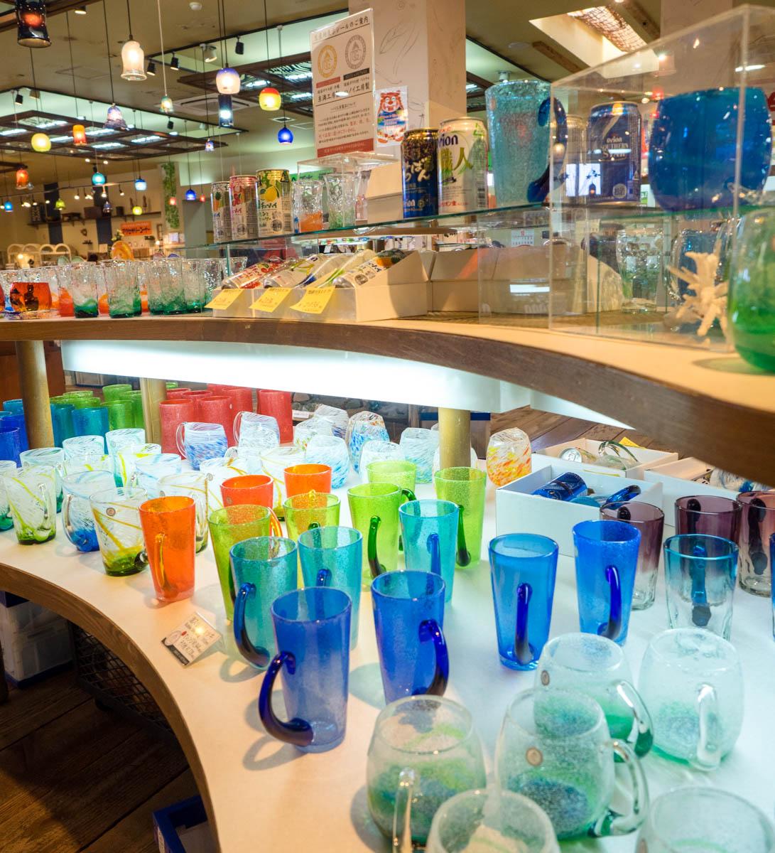 綺麗な琉球ガラスたち