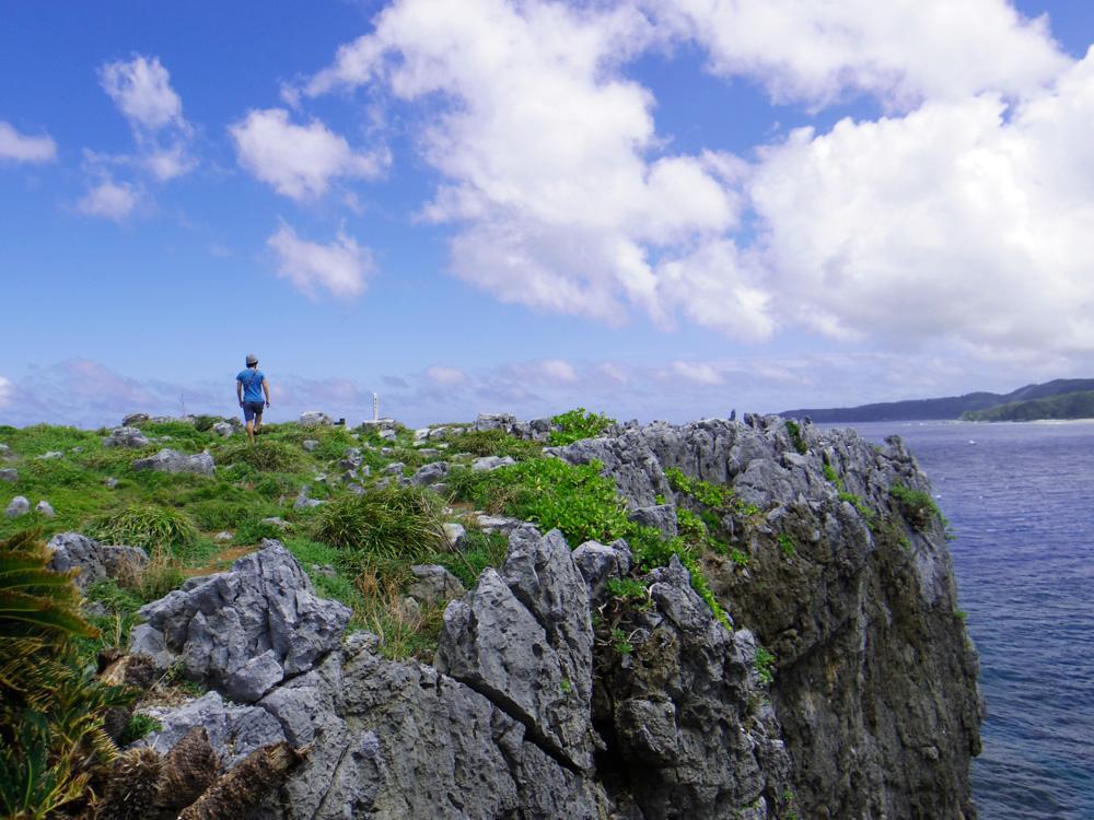 絶景スポットの辺戸岬