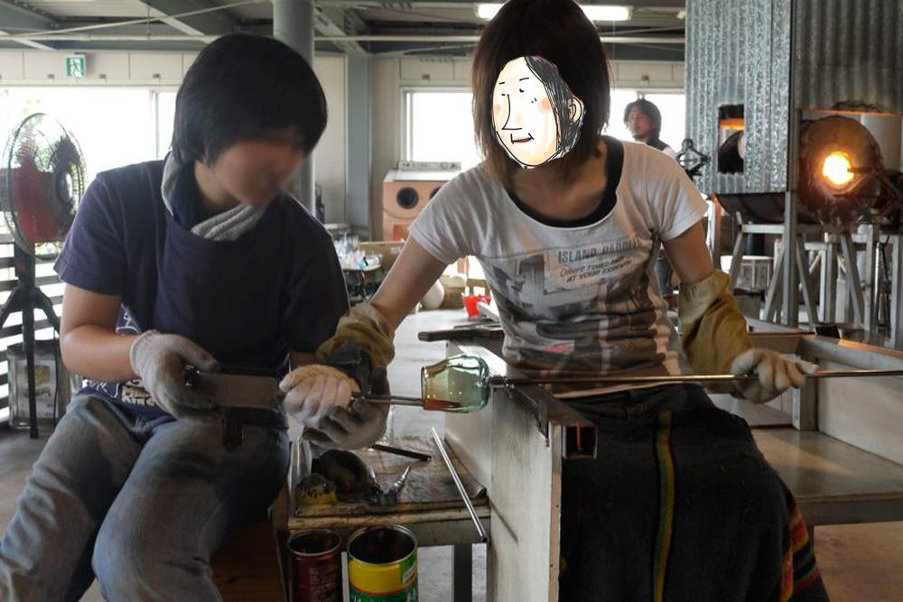 琉球ガラス作り初体験