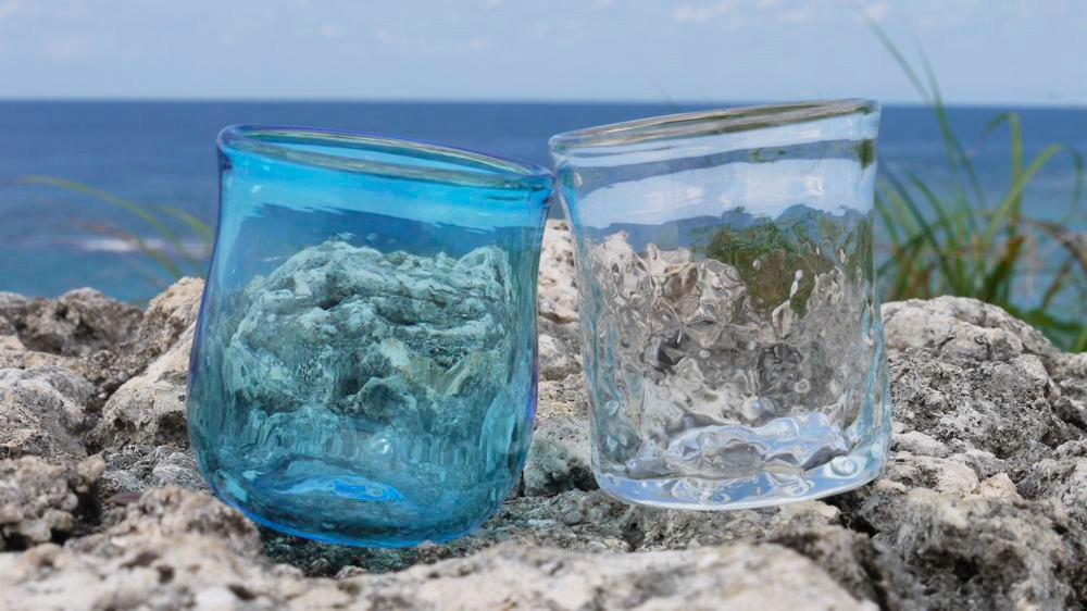 gala青い海で琉球ガラス体験