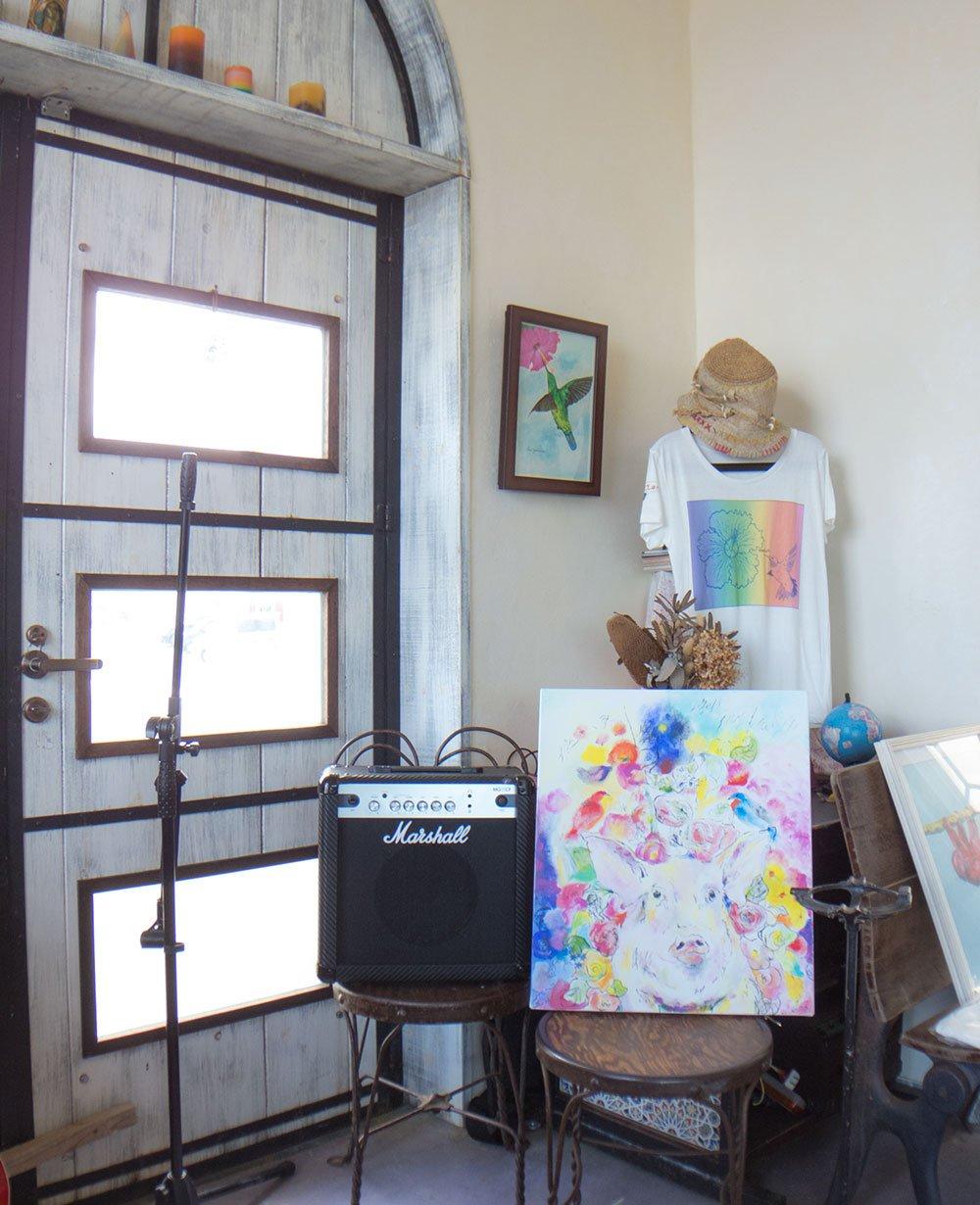 店内にあるアート