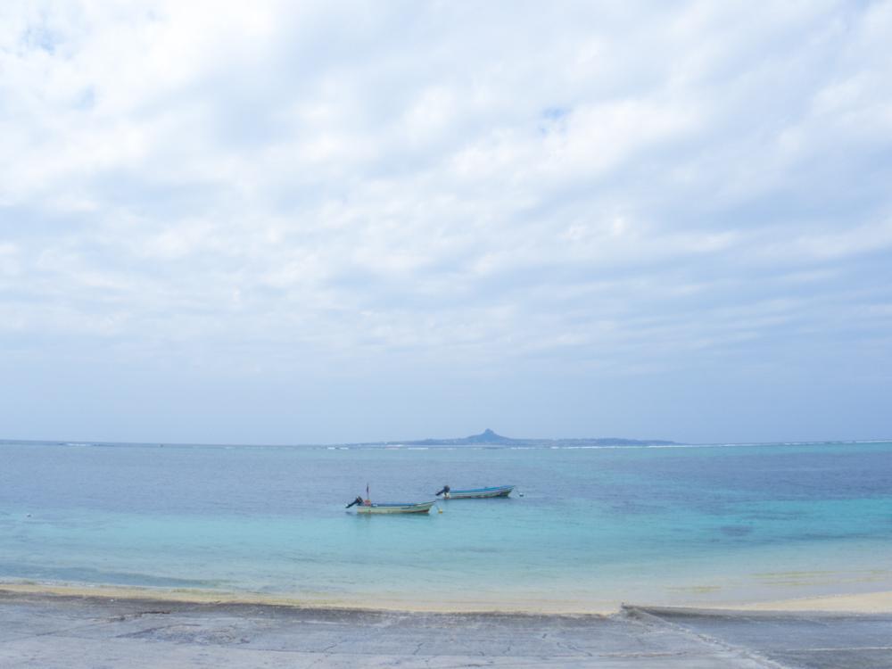 伊江島の海