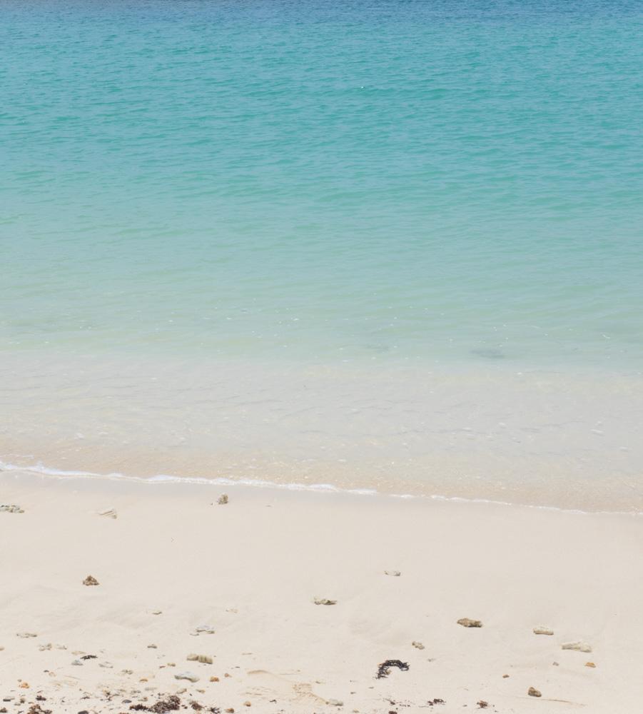 人工のビーチ