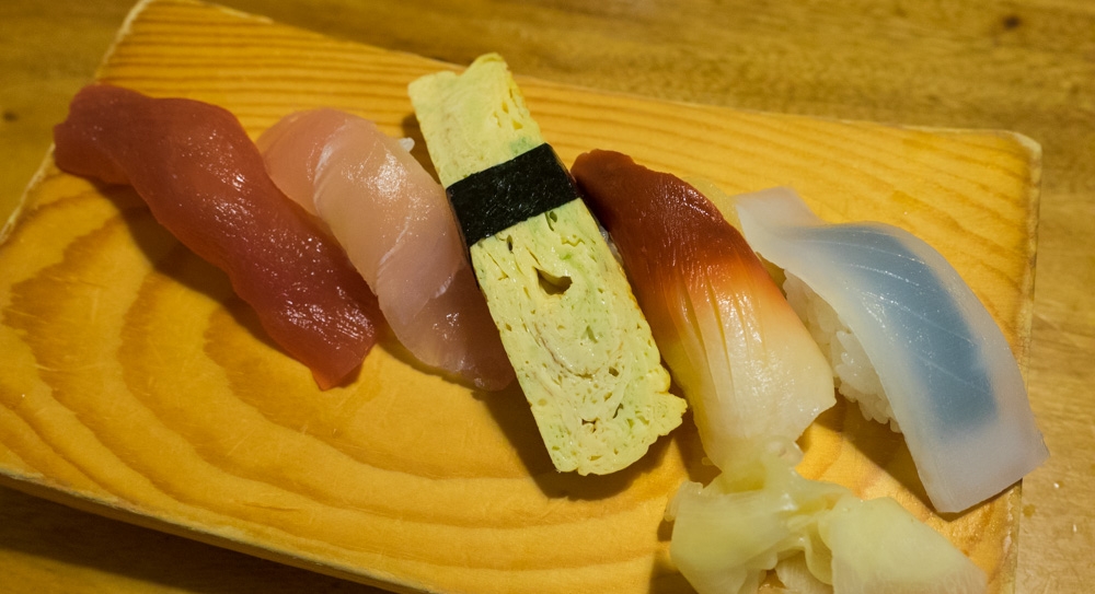 ビールセットのお寿司