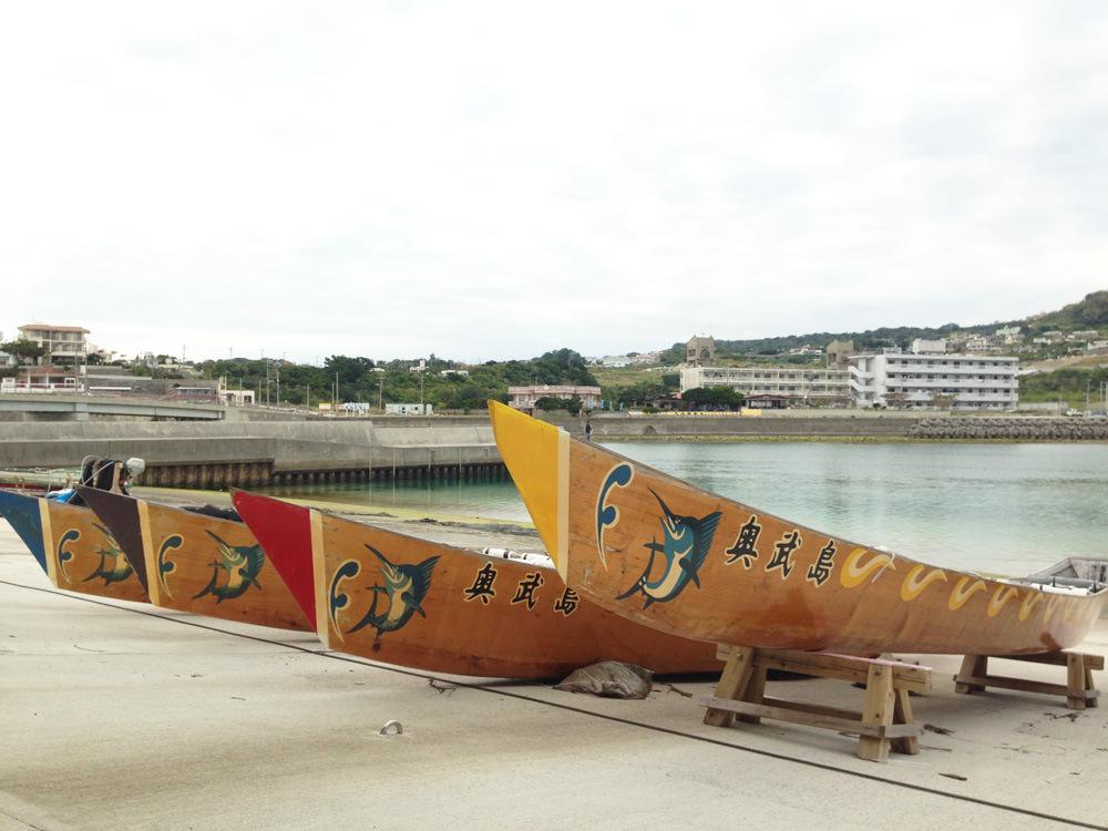 ハーリー舟が沖縄らしい風景