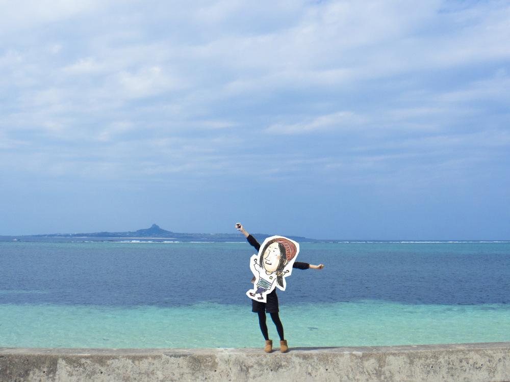 伊江島と綺麗な海