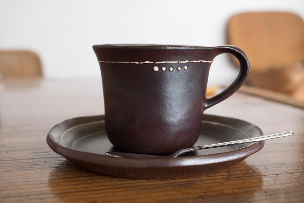 コーヒーが陶器で