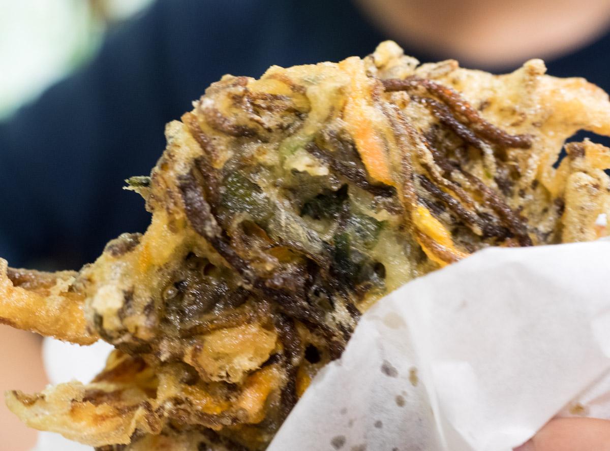 もずく天ぷらは美味しい
