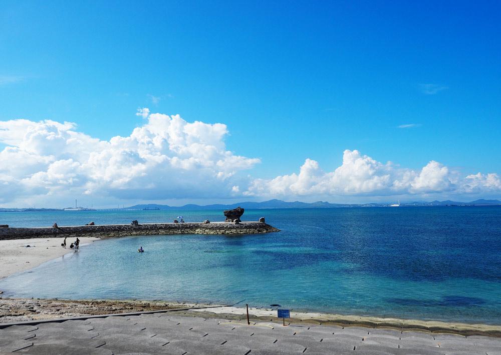 沖縄中部も海がきれい