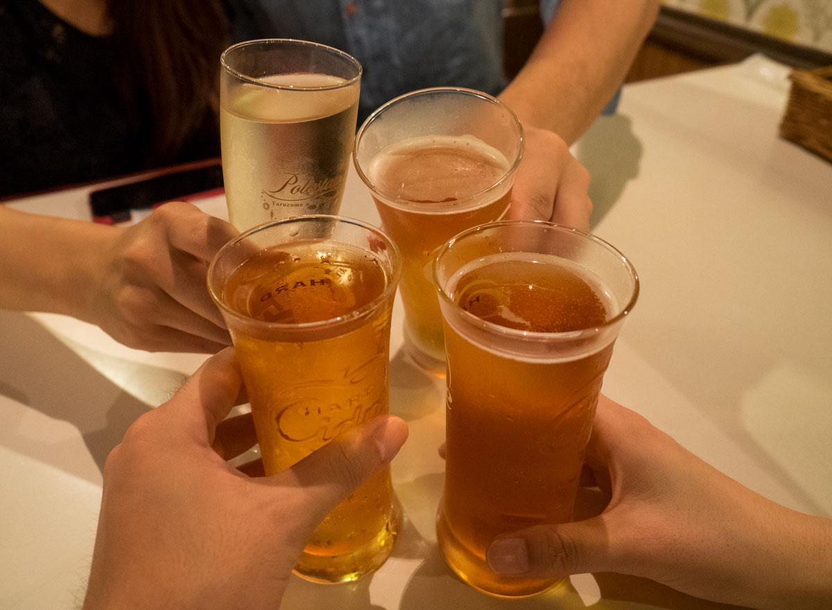 乾杯はシードルとスパークリング