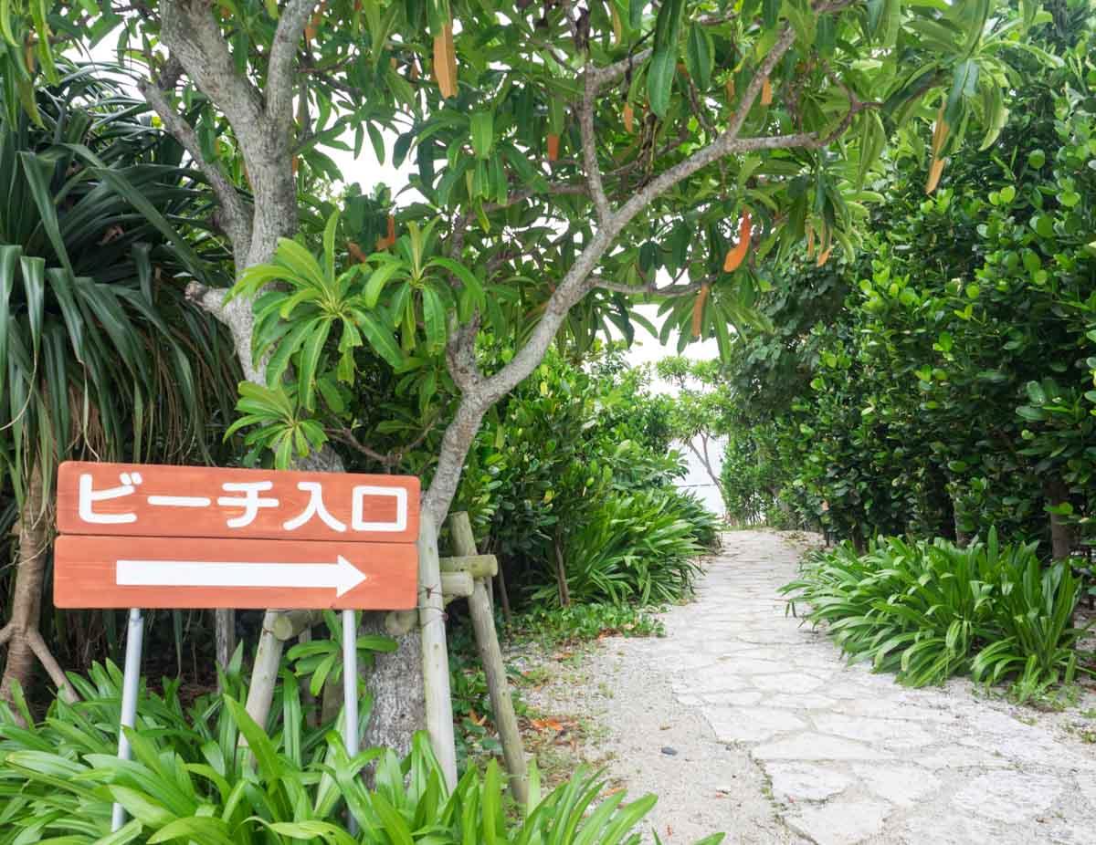 喜瀬ビーチまでの道
