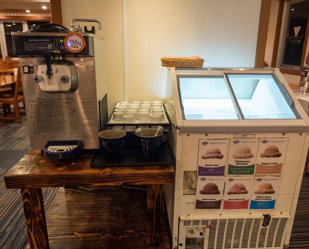 ソフトクリーム機械も