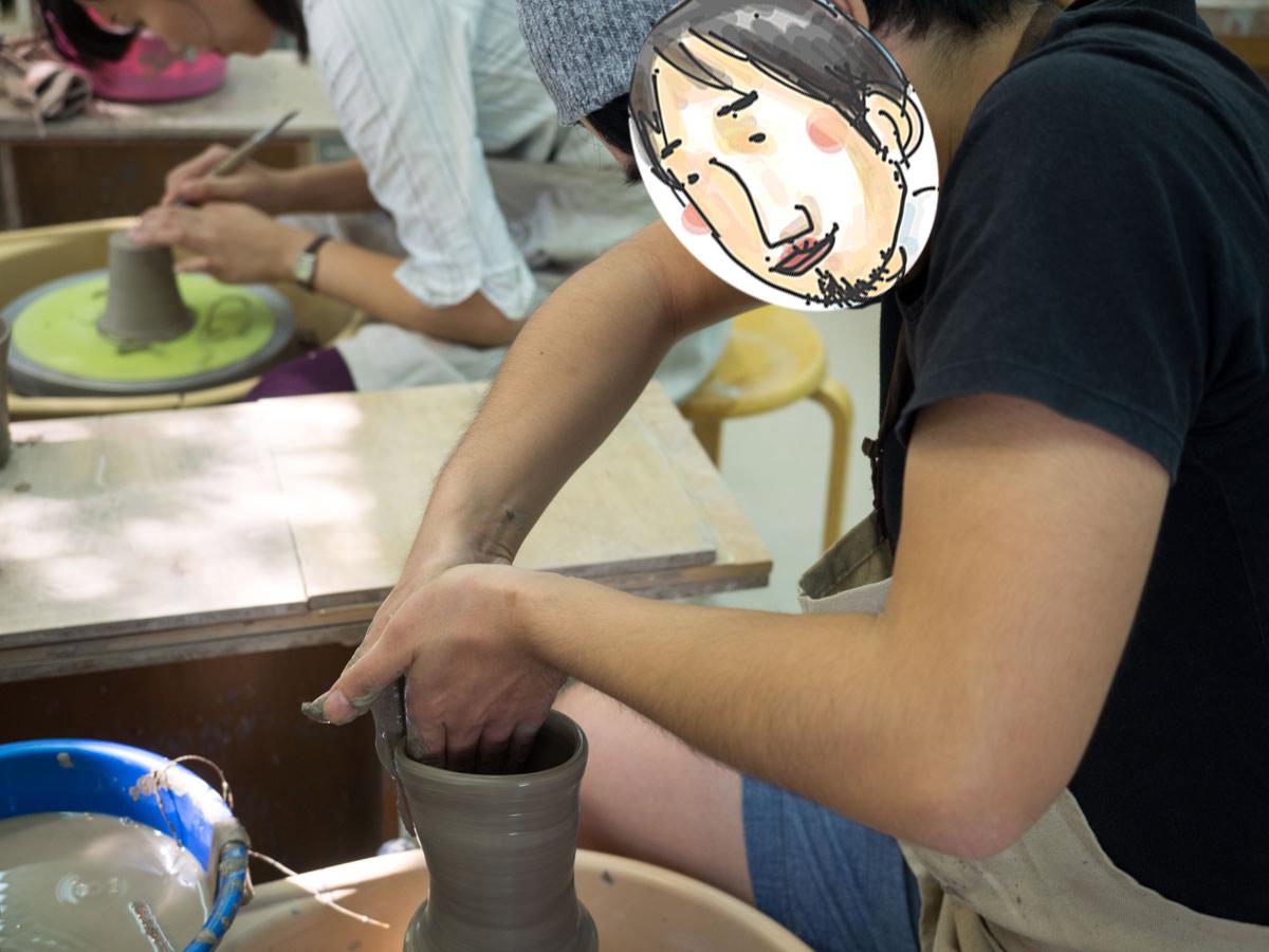 みなみのひげ陶芸を教わる