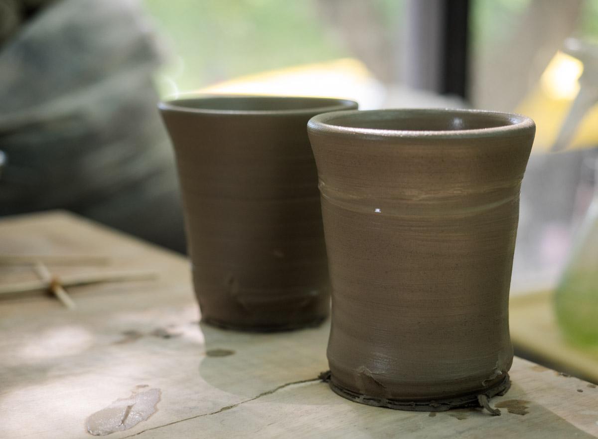 湯のみ茶碗の形に