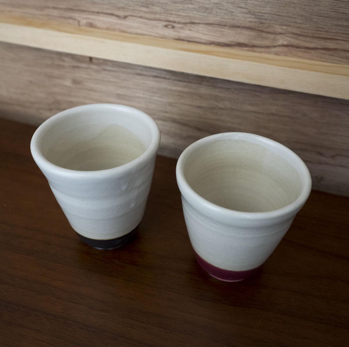 ペアの湯のみ茶碗