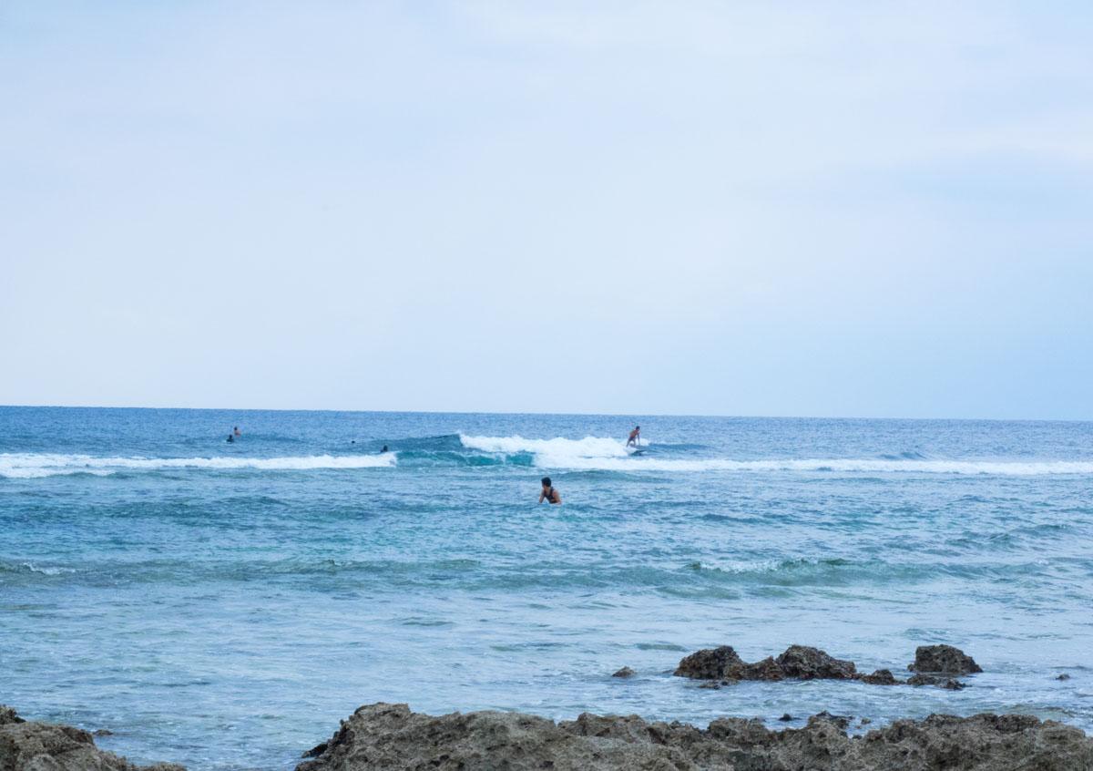 みんな楽しそうにサーフィン