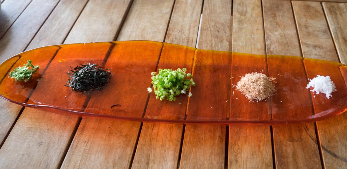 ゆし豆腐のトッピング