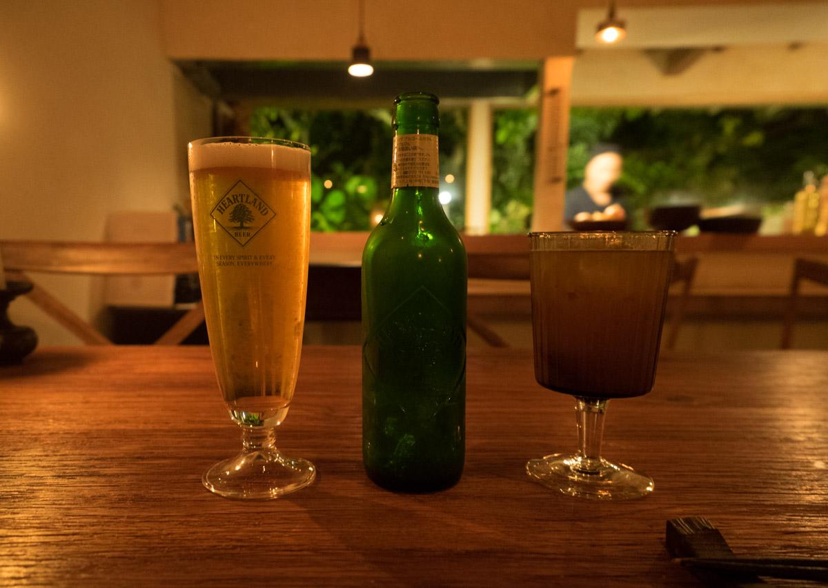 ビール(ハートランド)とノンアル