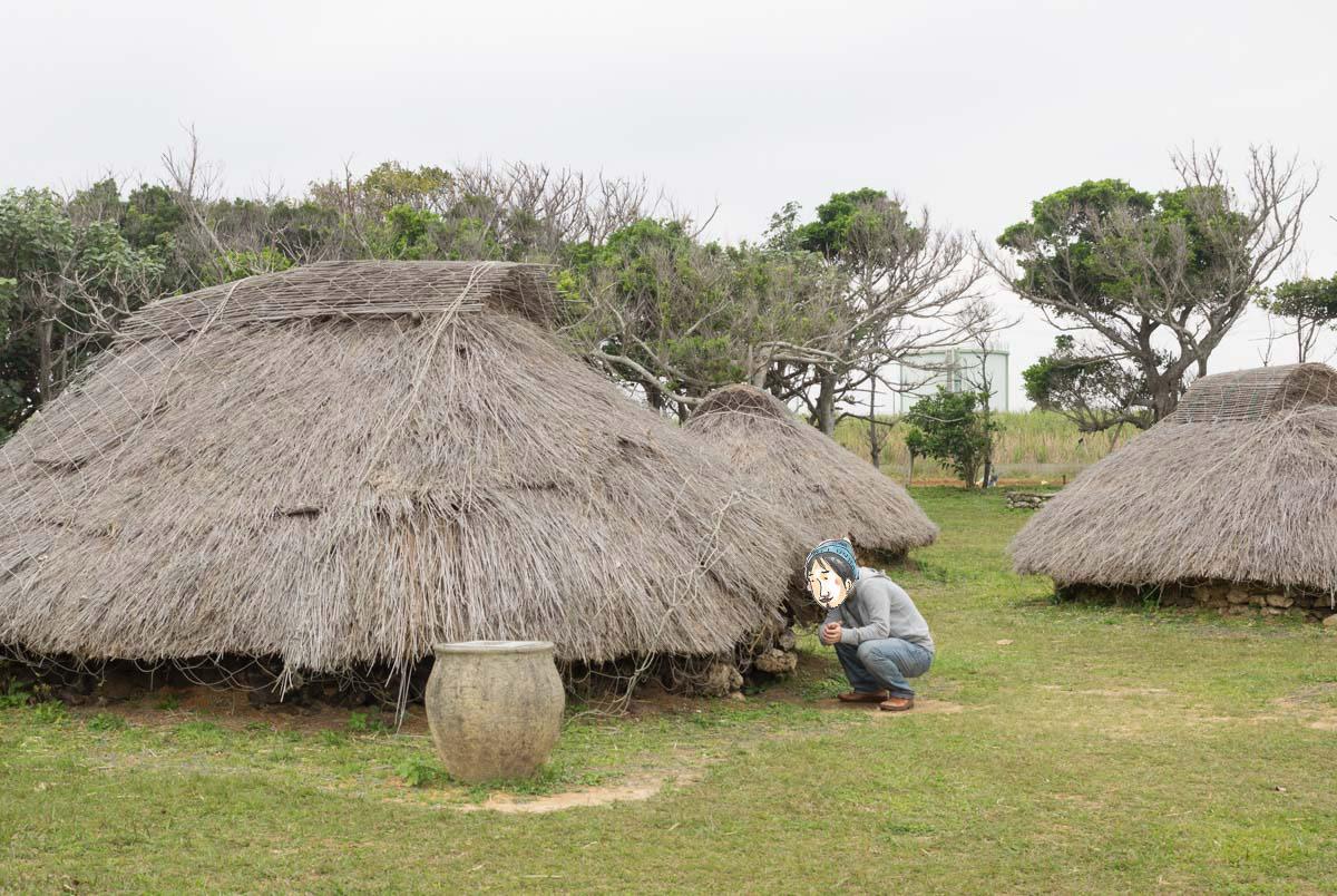 竪穴式住居の中を覗く