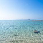 美ら海水族館から車で10分の「瀬底ビーチ」は本島屈指の透明な海だった