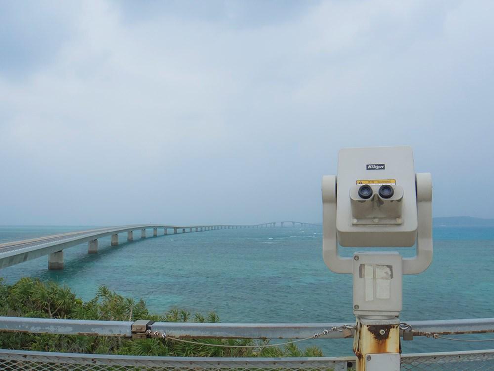 伊良部大橋の望遠鏡