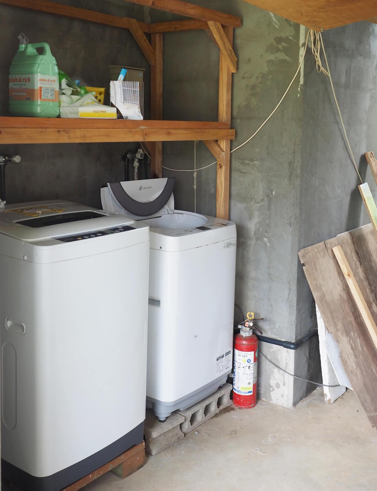 ハウス美波の洗濯機