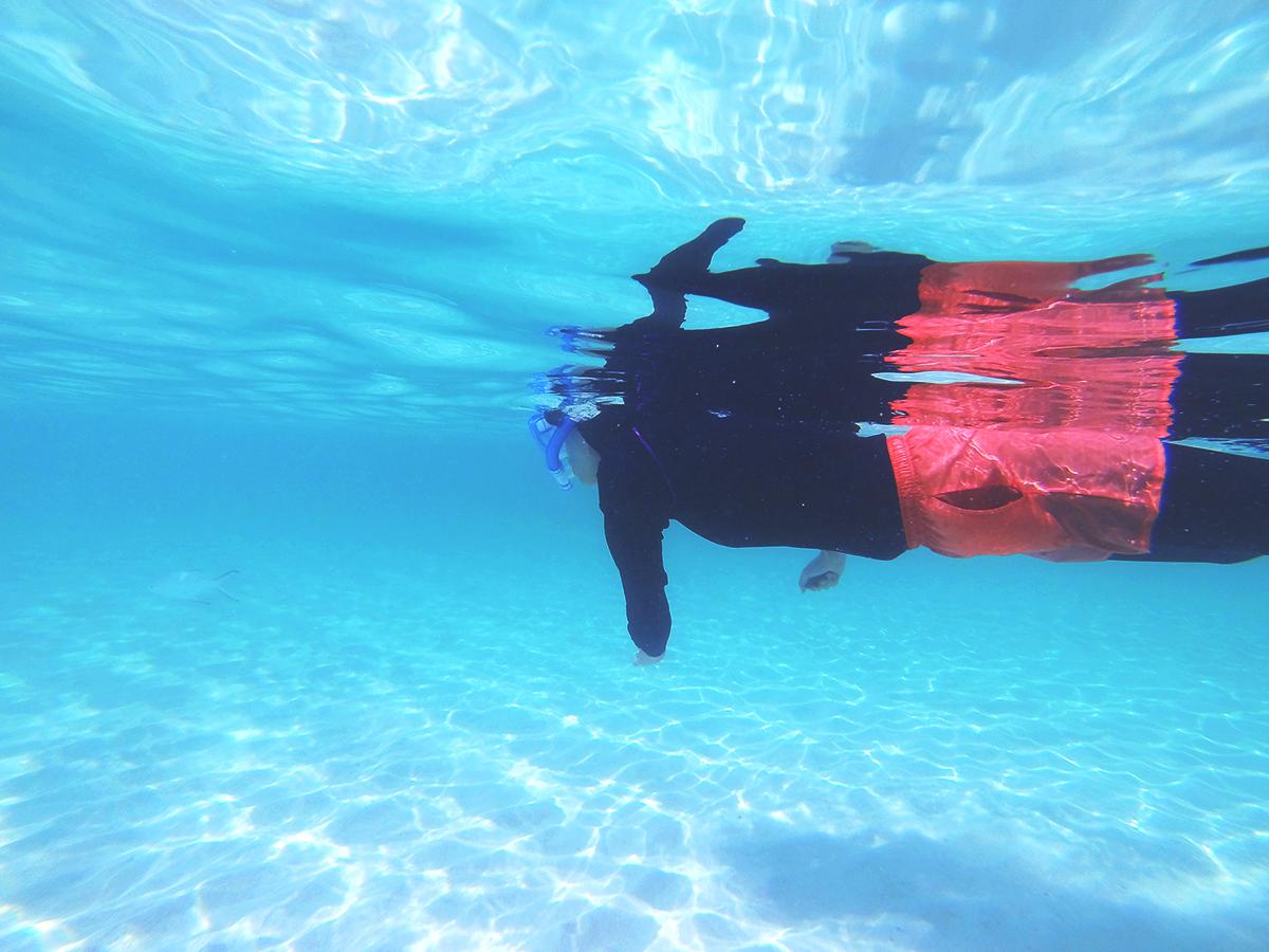 泳ぐピノ子さん