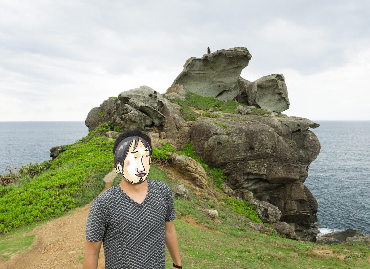 御神崎のゴツゴツした岩