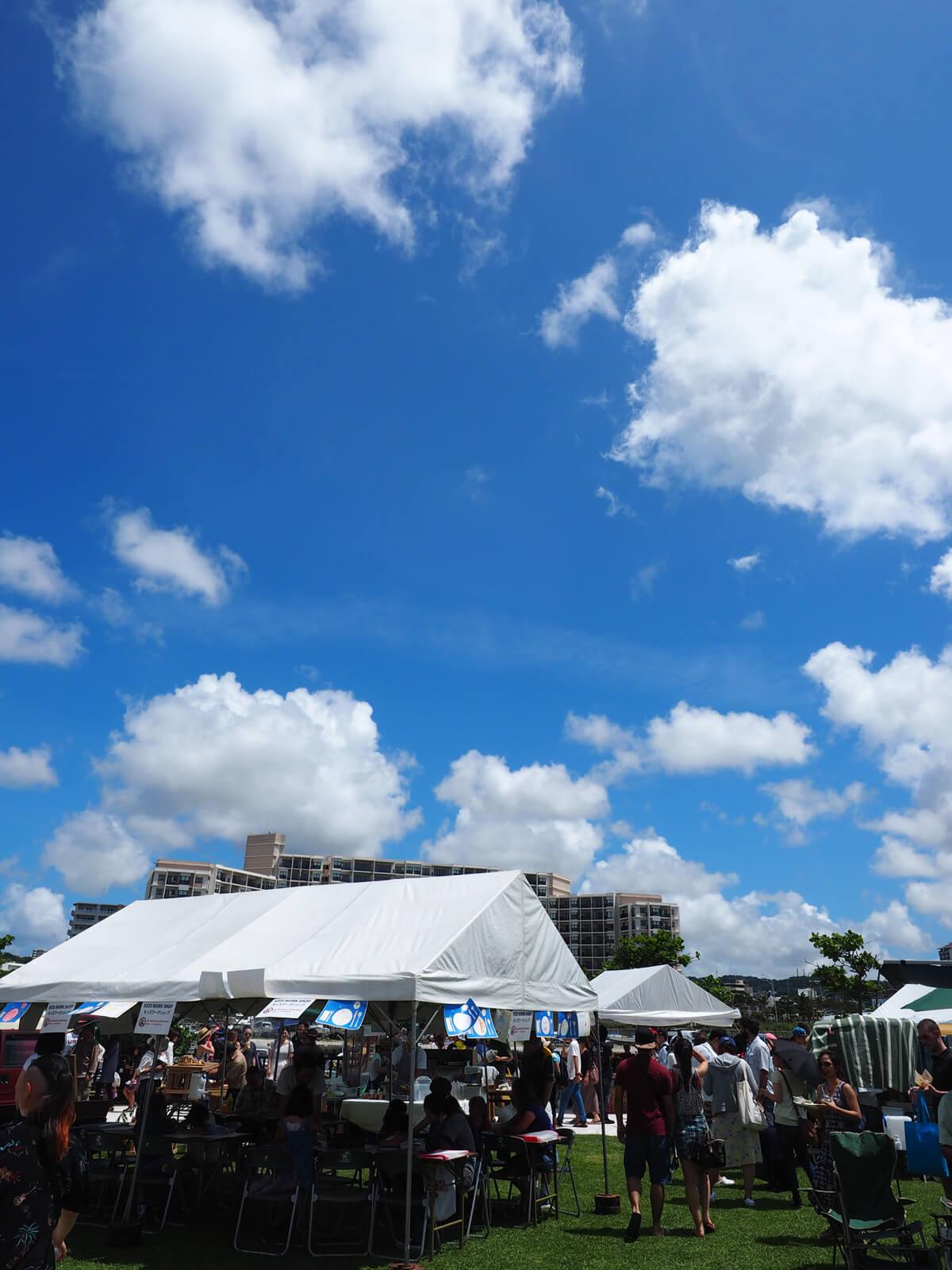 沖縄フードフレアの天気は快晴