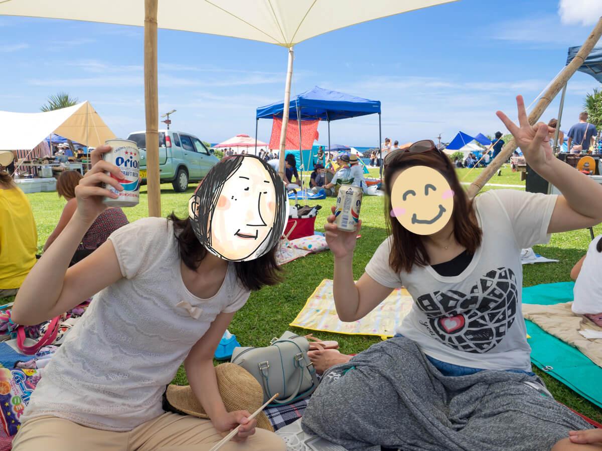 沖縄フードフレアでピクニック