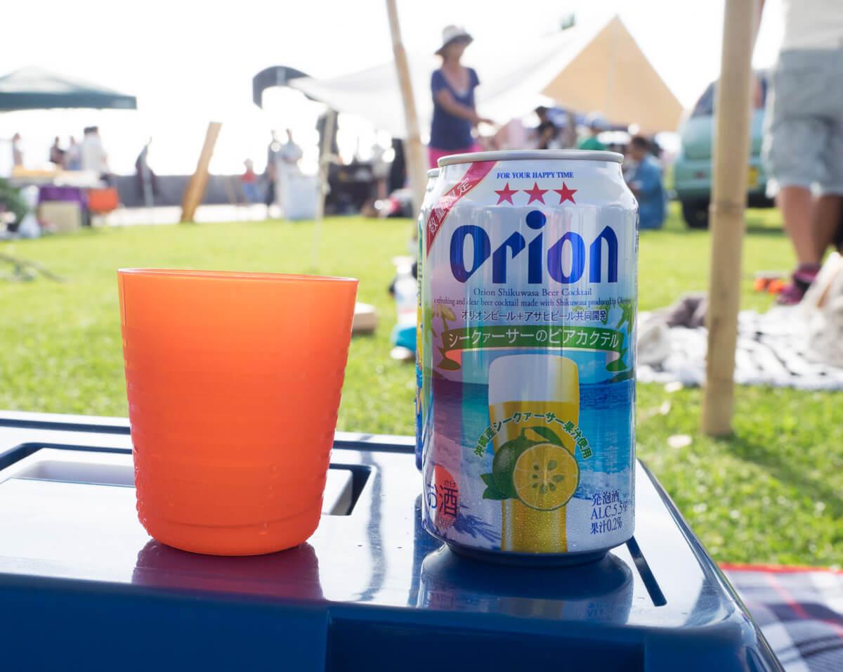 沖縄フードフレアでビール