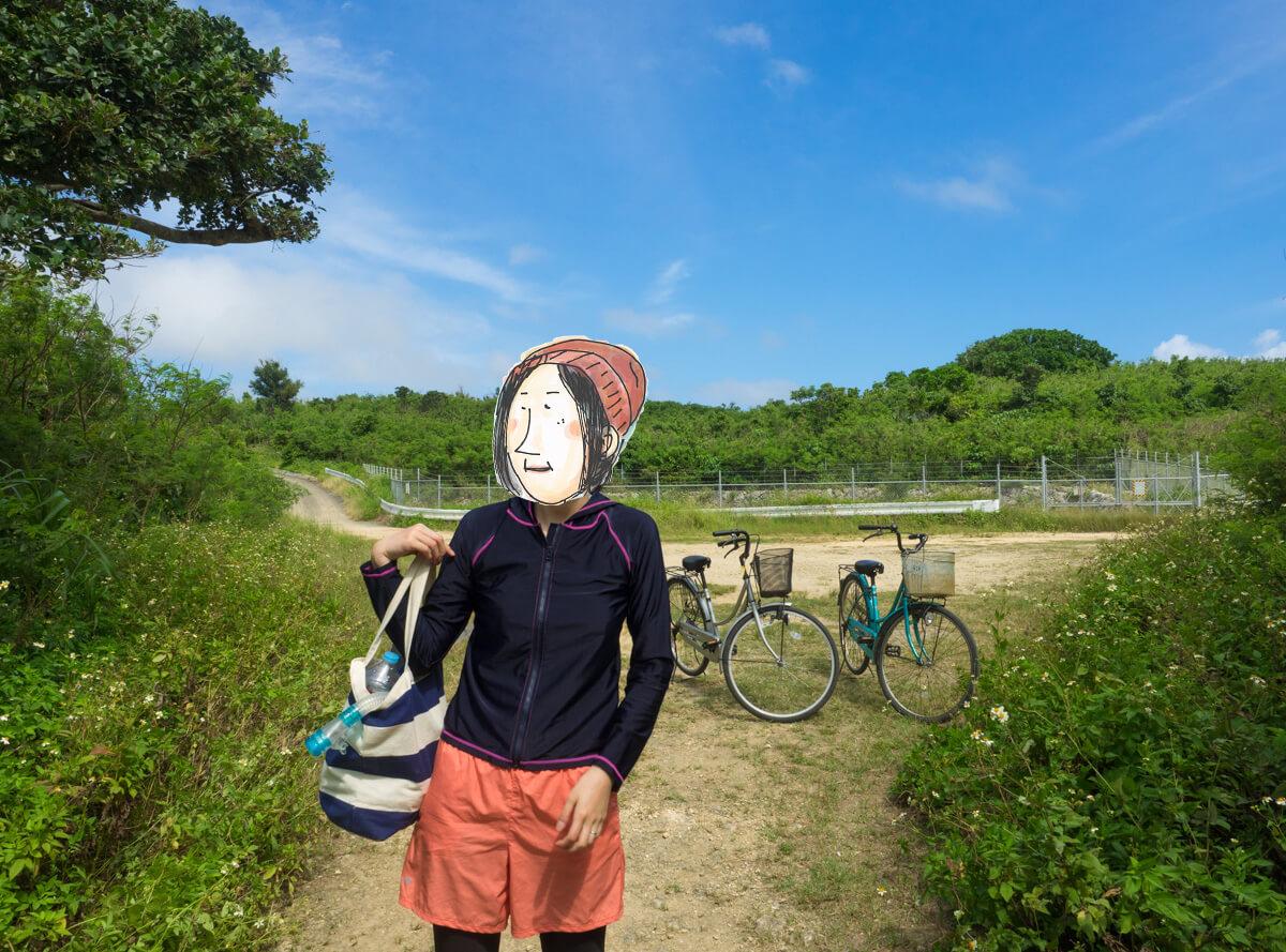 自転車を置く
