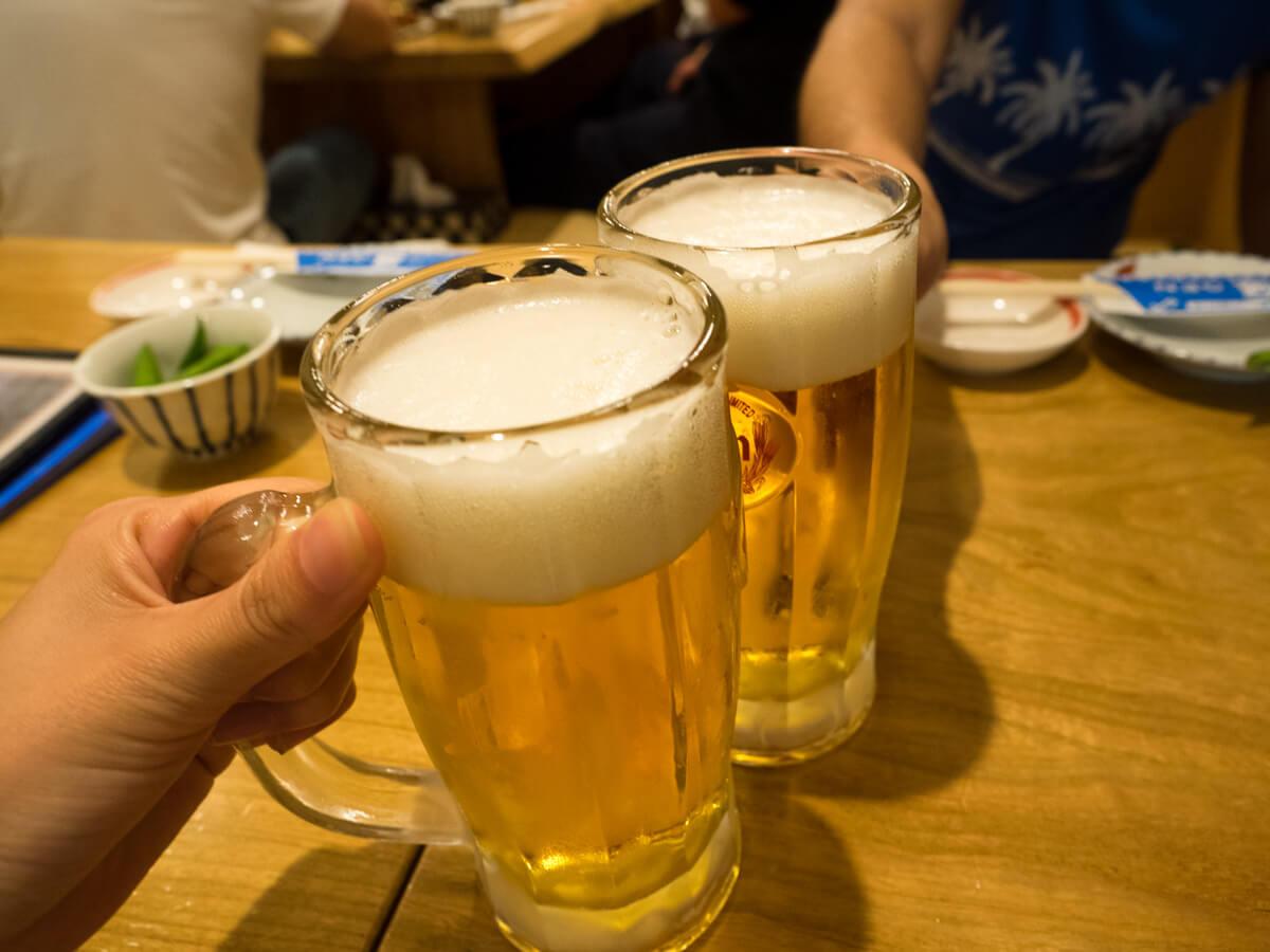海人居酒屋 源 総本店のビール