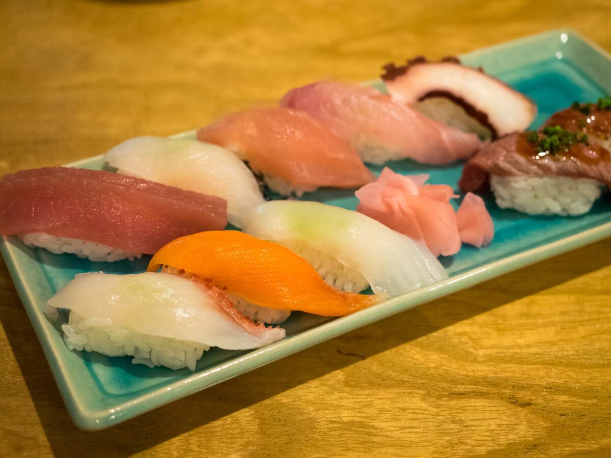 海人居酒屋 源 総本店の握り寿司