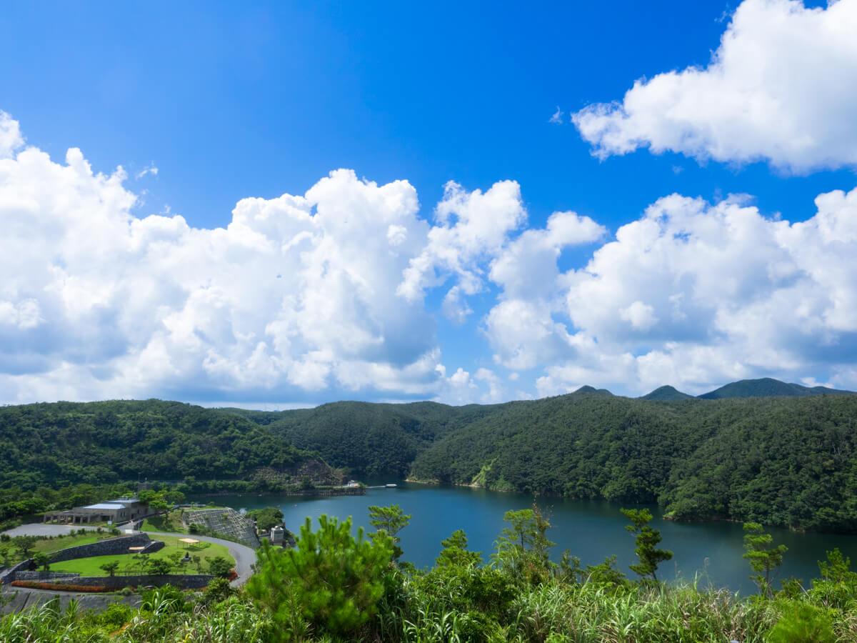 福地ダムの景色