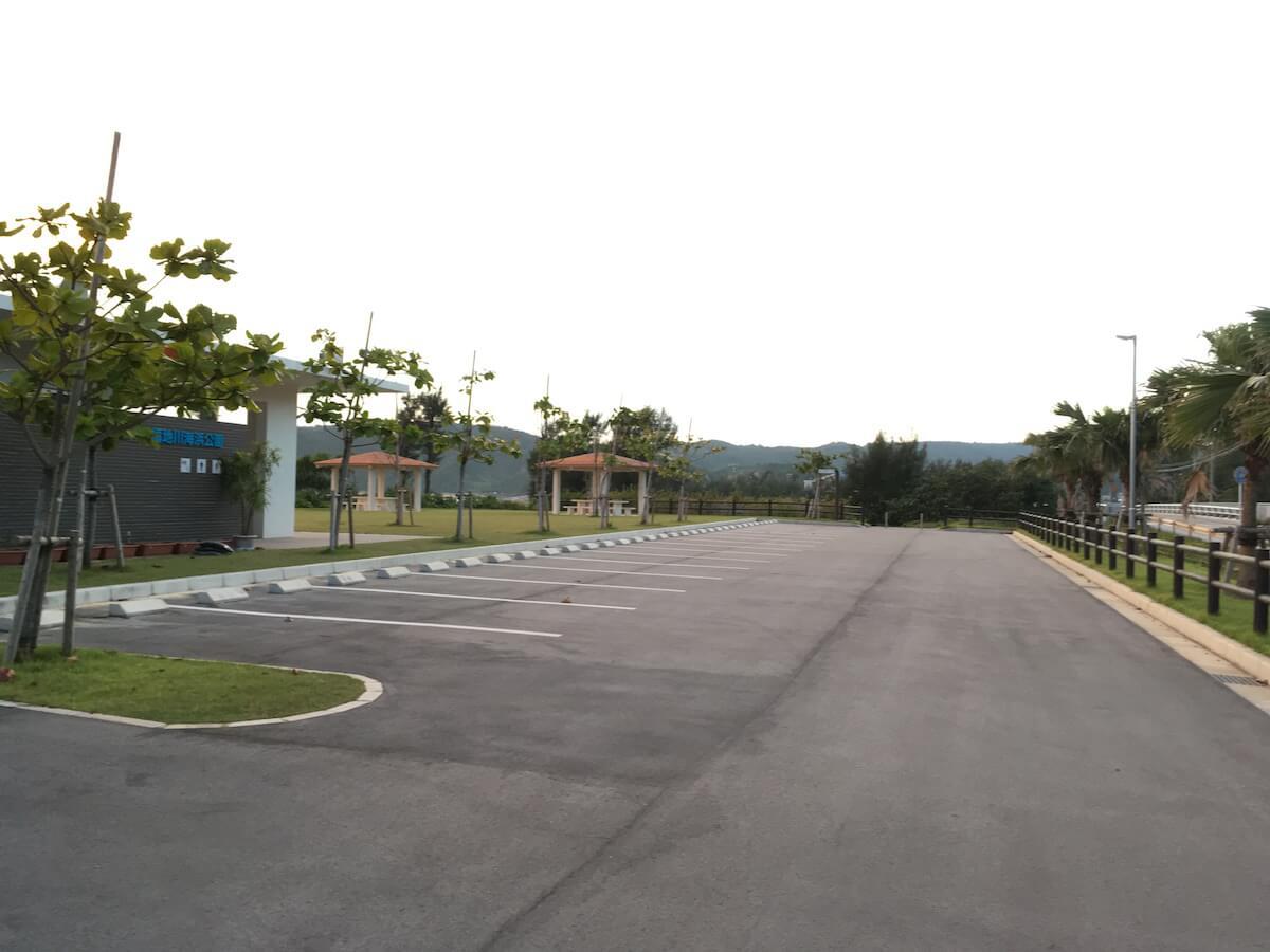 福地川公園の駐車場