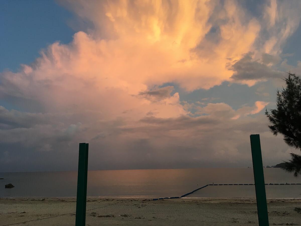 福地川公園からの夕日