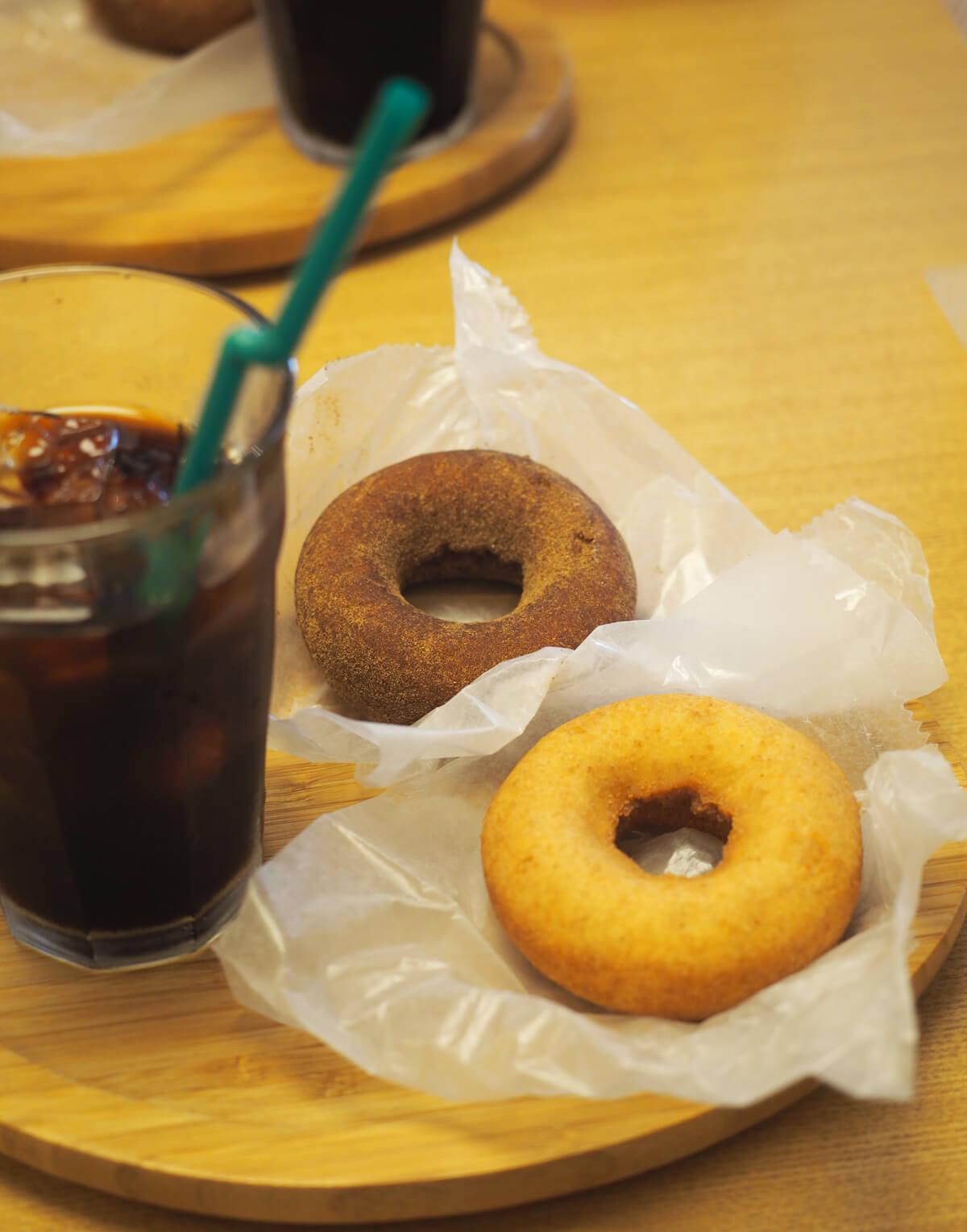 ネイチャードーナツとアイスコーヒー