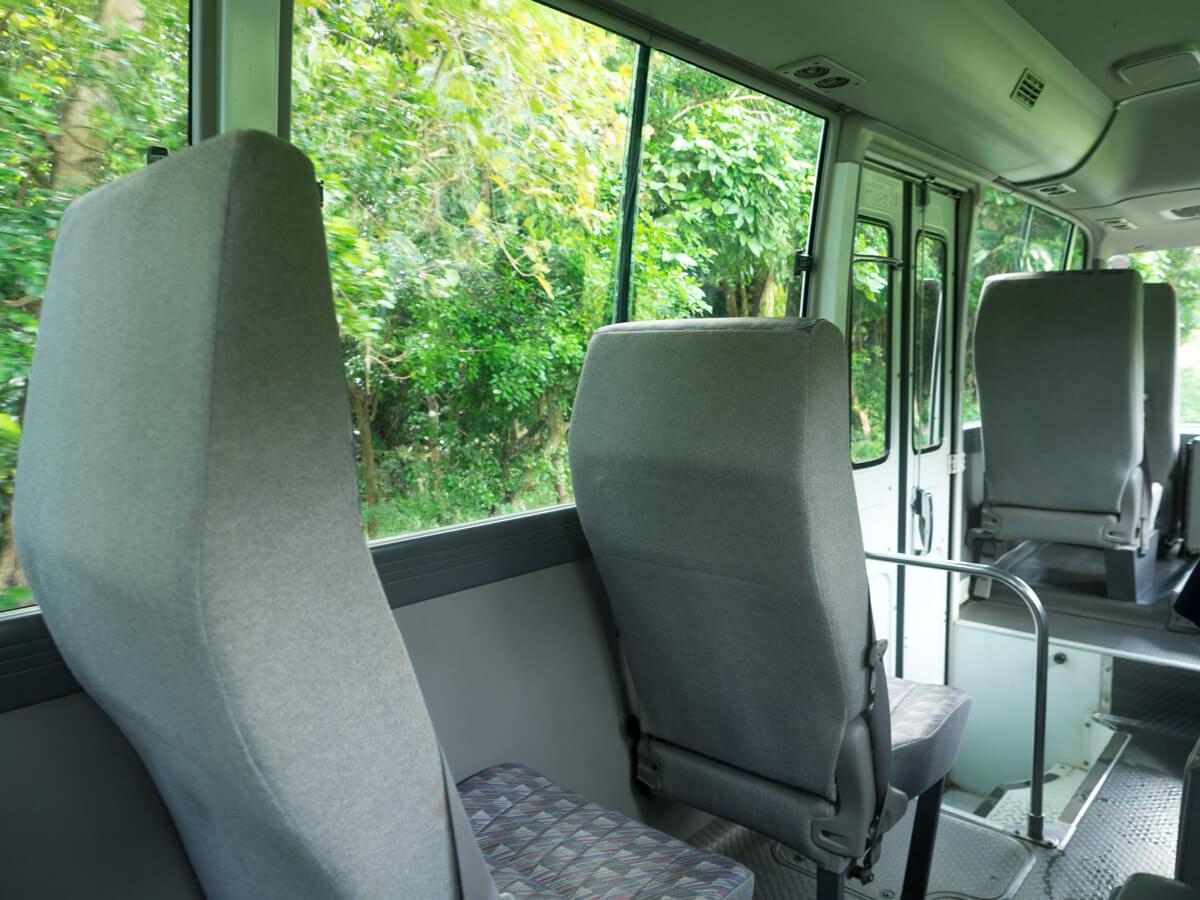大石林山までバスで