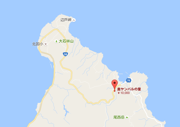 ヤンバルの里地図