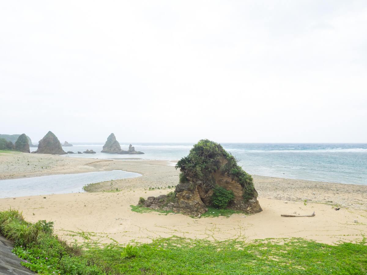 目の前の海(楚洲のビーチ)