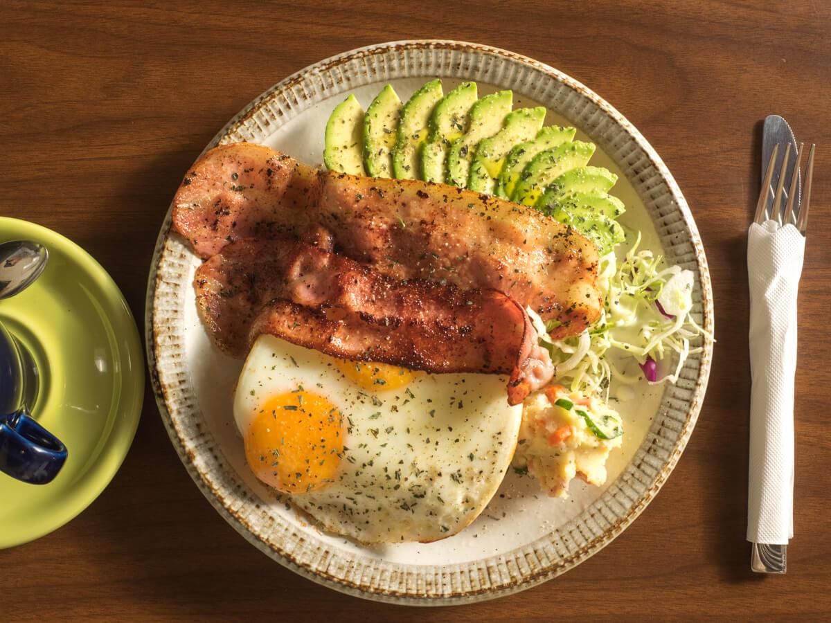 たっぷりの朝食