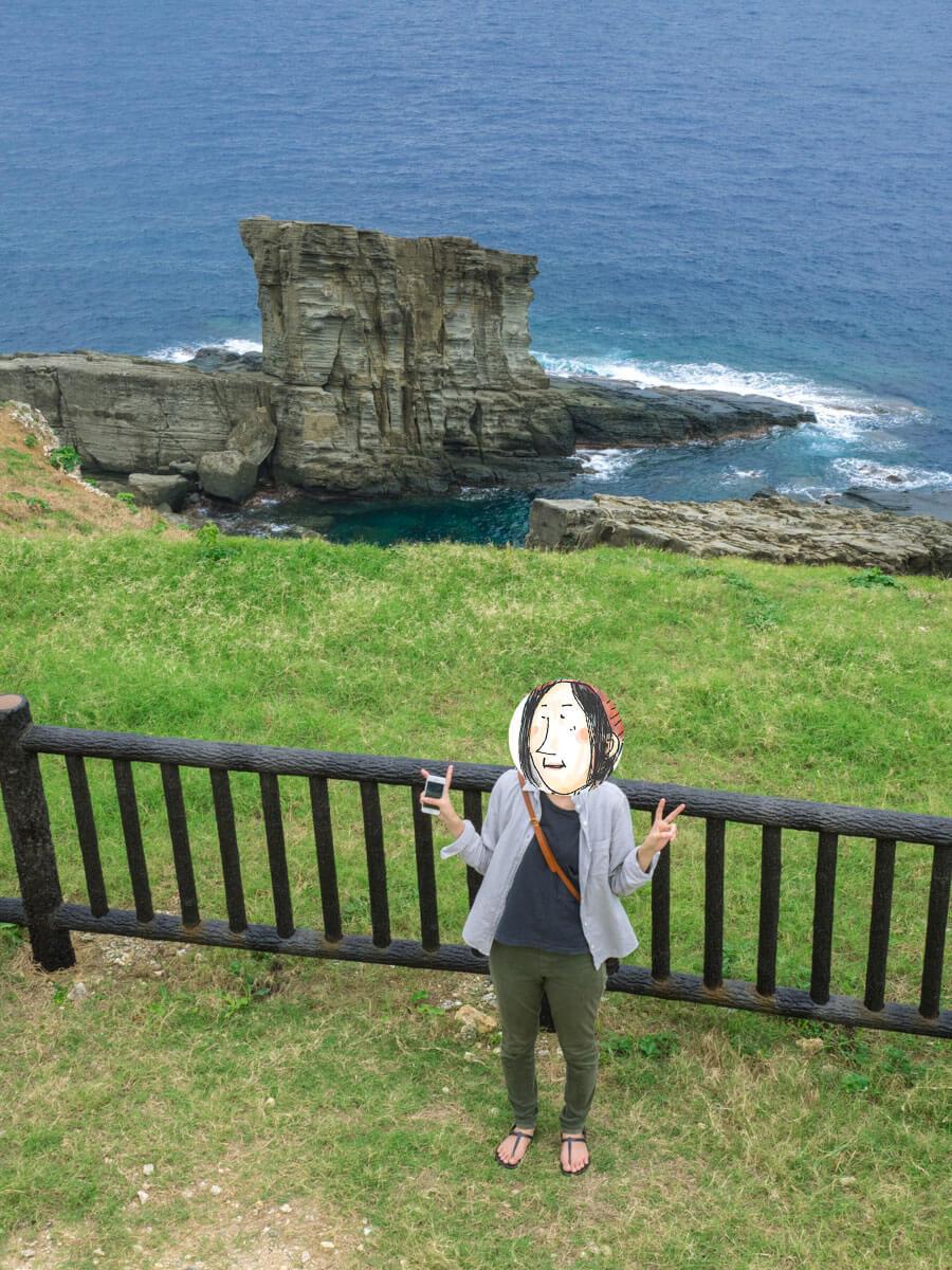 軍艦岩の写真スポット