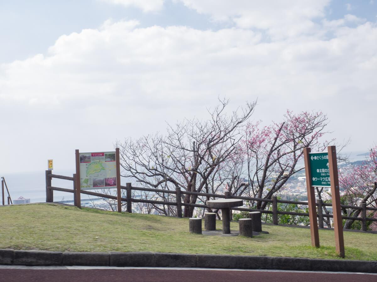名護城公園のビジターセンターへ