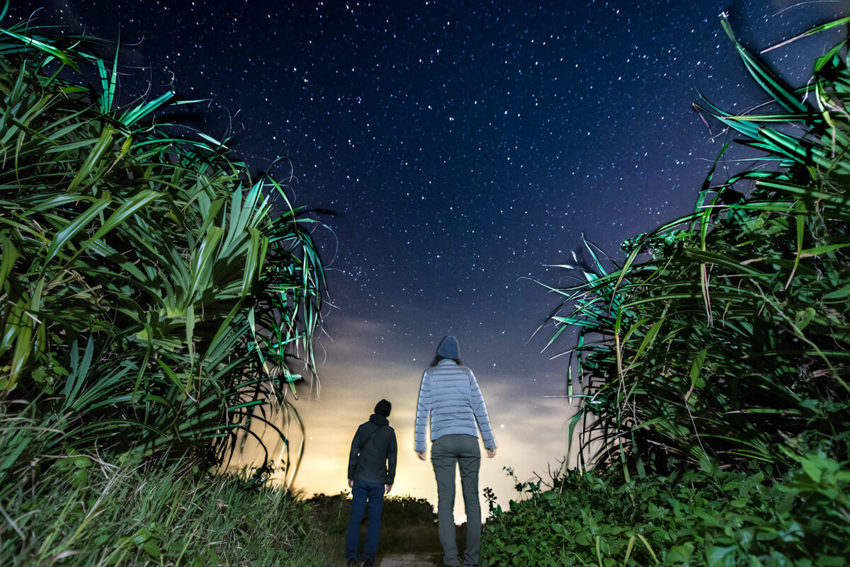 古宇利島は満点の星空
