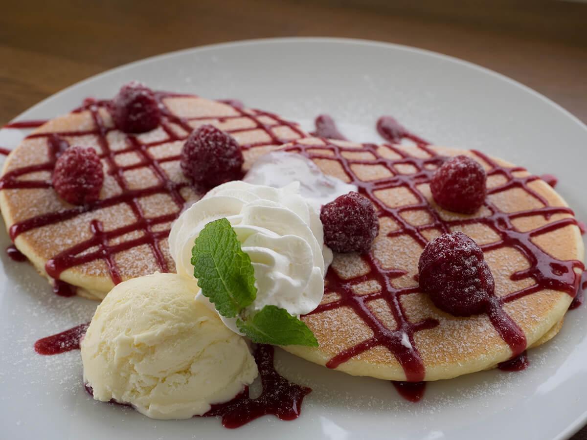木苺のパンケーキ