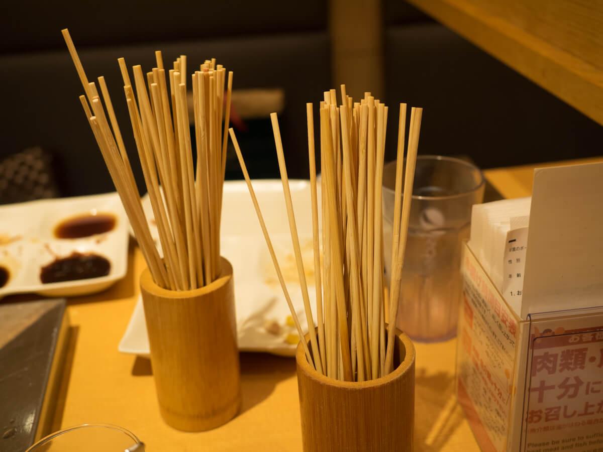 串カツの竹串